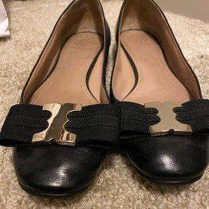 Tory Burch Black Bow Flats